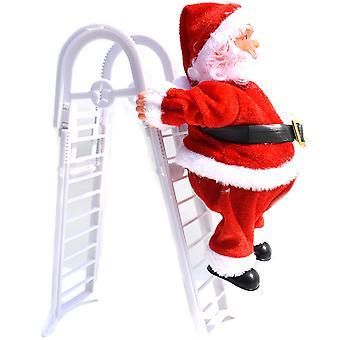 Christmas Electric Santa Claus Climbing Ladder Xmas Decor Kids Gift