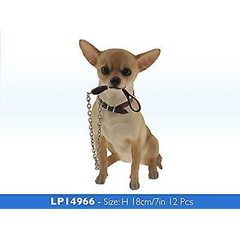18cm Walkies Chihuahua hunden sitter dyr Figurine Ornament gaveide