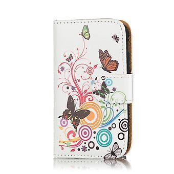 Progettazione libro portafoglio custodia cover per Huawei Ascend G7 - farfalla di colore