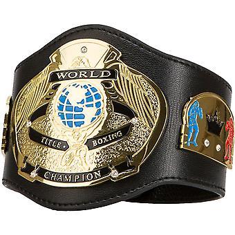 Title Boxing World Champion Authentic Detailed Leather Novelty Mini Belt - Black