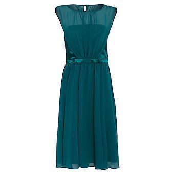 Grünen Maschen Bow Kleid