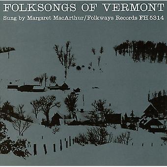 Margaret Macarthur - importación de USA de Folksongs de Vermont [CD]