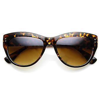 Damenmode genietet Mitte Größe Cateye Sonnenbrillen
