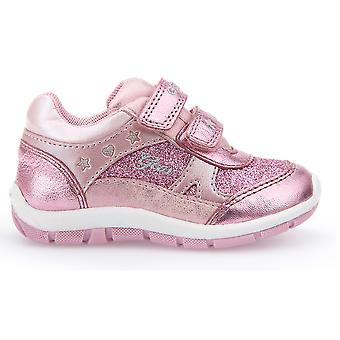 Geox meisjes Shaax Trainers Metallic roze