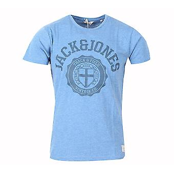 Jack and Jones sportliche T-Shirt hell Blaues T-Shirt