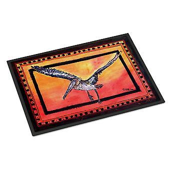 Carolines skatter 8095JMAT Bird - Pelican innendørs eller utendørs Mat 24 x 36 dørmatte