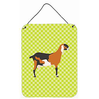 Anglo-Nubienne chèvre nubienne vert mur ou porte accrocher impressions