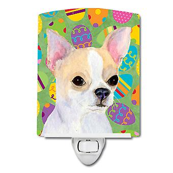 Chihuahua Easter Eggtravaganza Ceramic Night Light