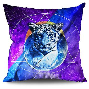 Tiger Moon Beast Linen Cushion 30cm x 30cm | Wellcoda