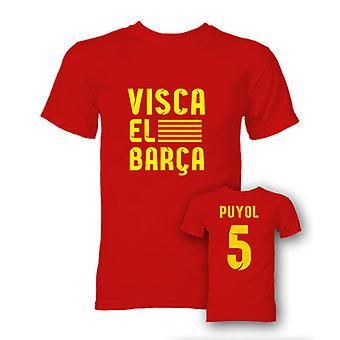 Carlos Puyol Visca El Barca Hero T-Shirt (rød)