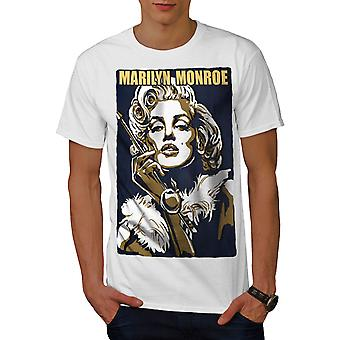 Kändis Marilyn Art män WhiteT-skjorta | Wellcoda