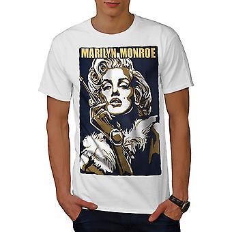 Celebrity Marilyn Art Men WhiteT-shirt | Wellcoda