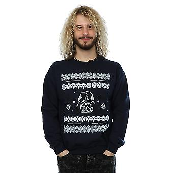 Star Wars Men's Christmas Darth Vader Fair Isle Sweatshirt