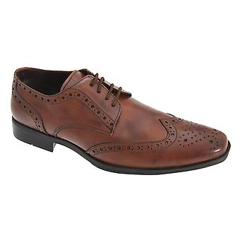 Route 21 Mens PVC Sole Brogue Gibson Shoes