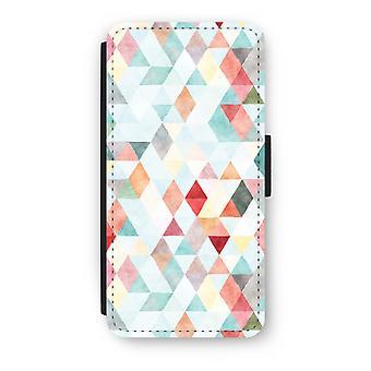 iPhone 6/6 s Plus Case Flip - triangles de couleur pastel
