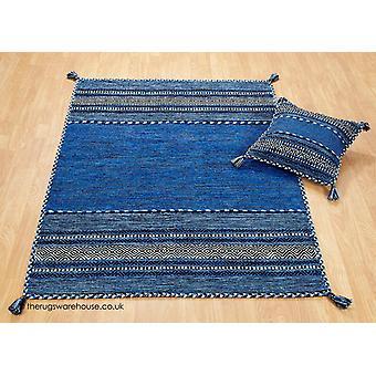 Kelim blå tæppe