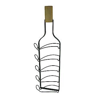 Flasche Wein geformt 5 Flasche hängen Weinregal