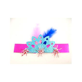 """Holografisk frynsede Tiara 8"""" assorterede farver"""