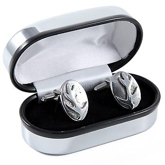 Scottish Stag Antler Pewter Cufflinks