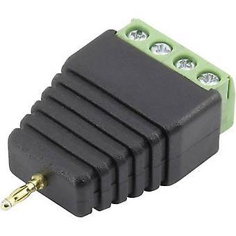 Conrad Bauteile 93013c 1121 Jack Stecker Stecker, gerade Pin-Durchmesser: 2 mm schwarz 1 PC