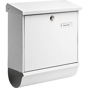 Burg Wächter 32670 COMFORT-Set 91300 W Letterbox Steel plate White Key