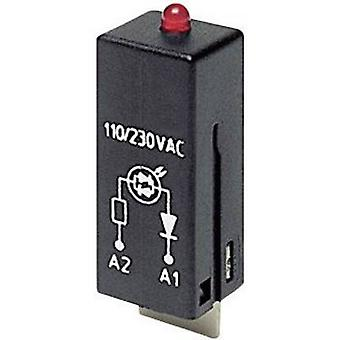 TE Connectivity Plug-in module + LED, + protection diode PTML0024 Light colour: Red 1 pc(s)