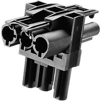 Adels-kontakt AC 166 GVT 3/3 sieťový distribútor sieťová zástrčka-sieťová zásuvka, sieťová zásuvka celkový počet pinov: 2 + PE Black 1 ks (s)