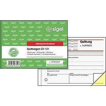 Sigel SD121 Receipt A6 landscape No. of sheets: 50 White 100 sheet