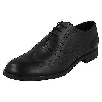 Ladies Leather Collection Low Heel Lace Up Brogue Shoes F80182
