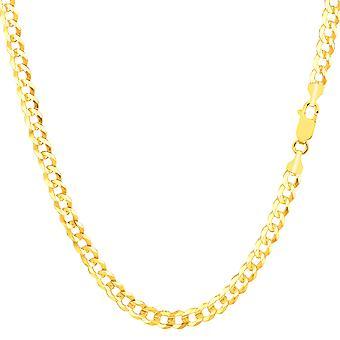 10 k Gelb Gold Komfort Kandare Kette Halskette, 3,6 mm