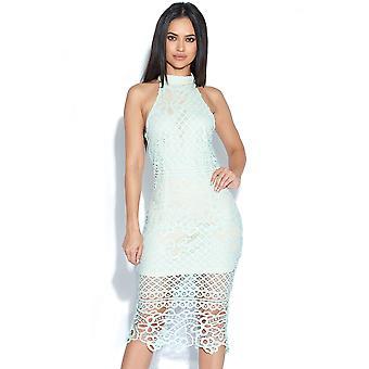 Haak Neck Lace Dress