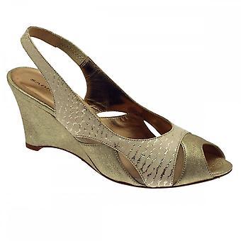 Sabrina Chic Slingback Two Tone Wedge Sandal
