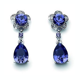 Oliver Weber Post Earring Prestige Rhodium, Violet