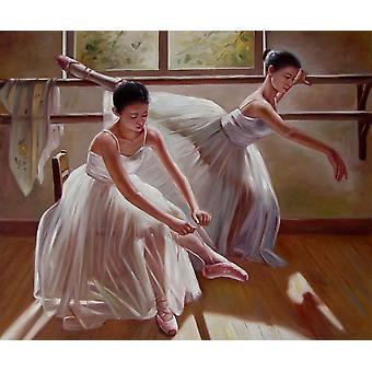 Balett lány, olajfestmény vásznon, 50x60 cm