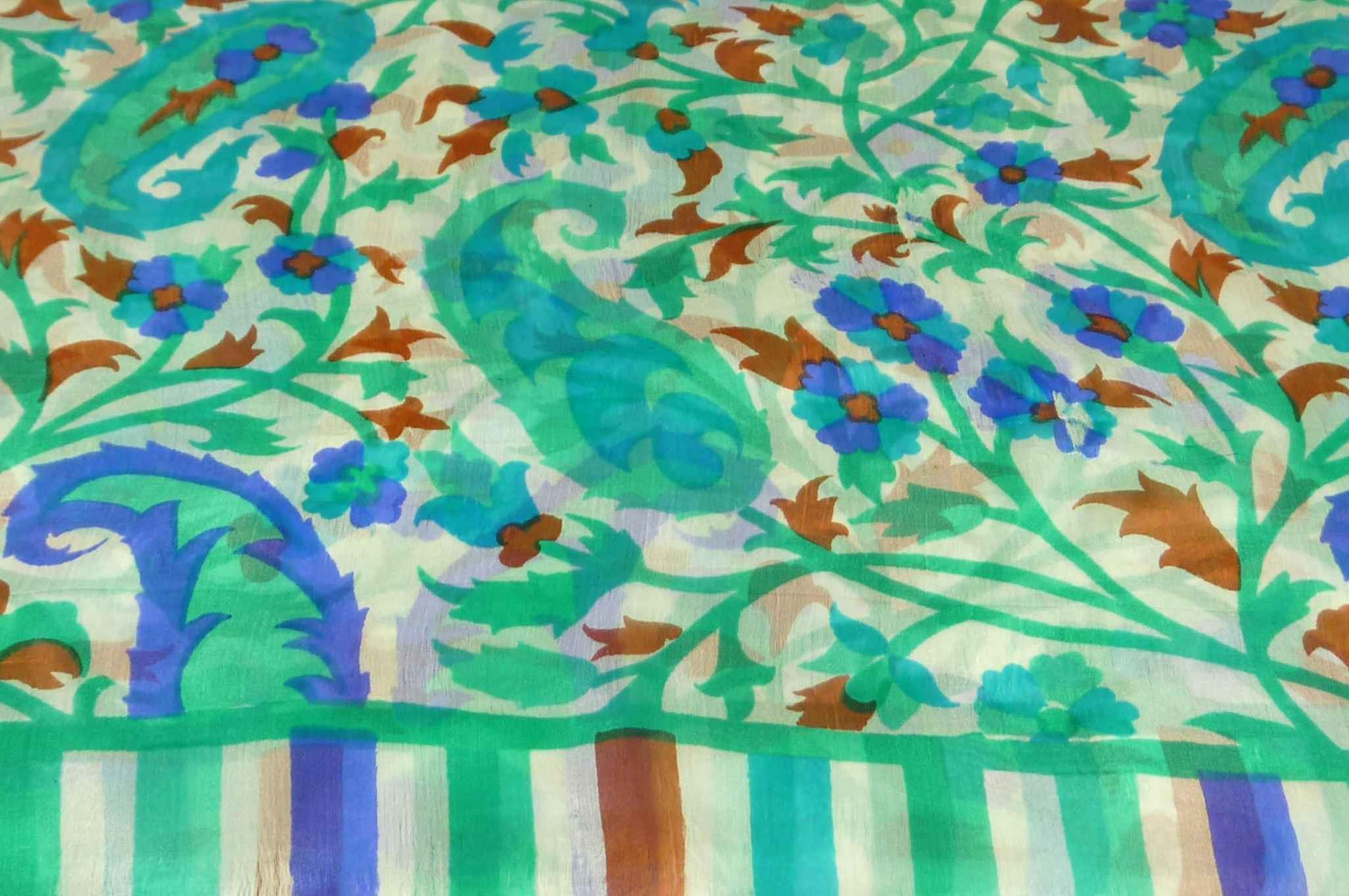 Mulberry Silk Contemporary Long Scarf Mooli Emerald by Pashmina & Silk