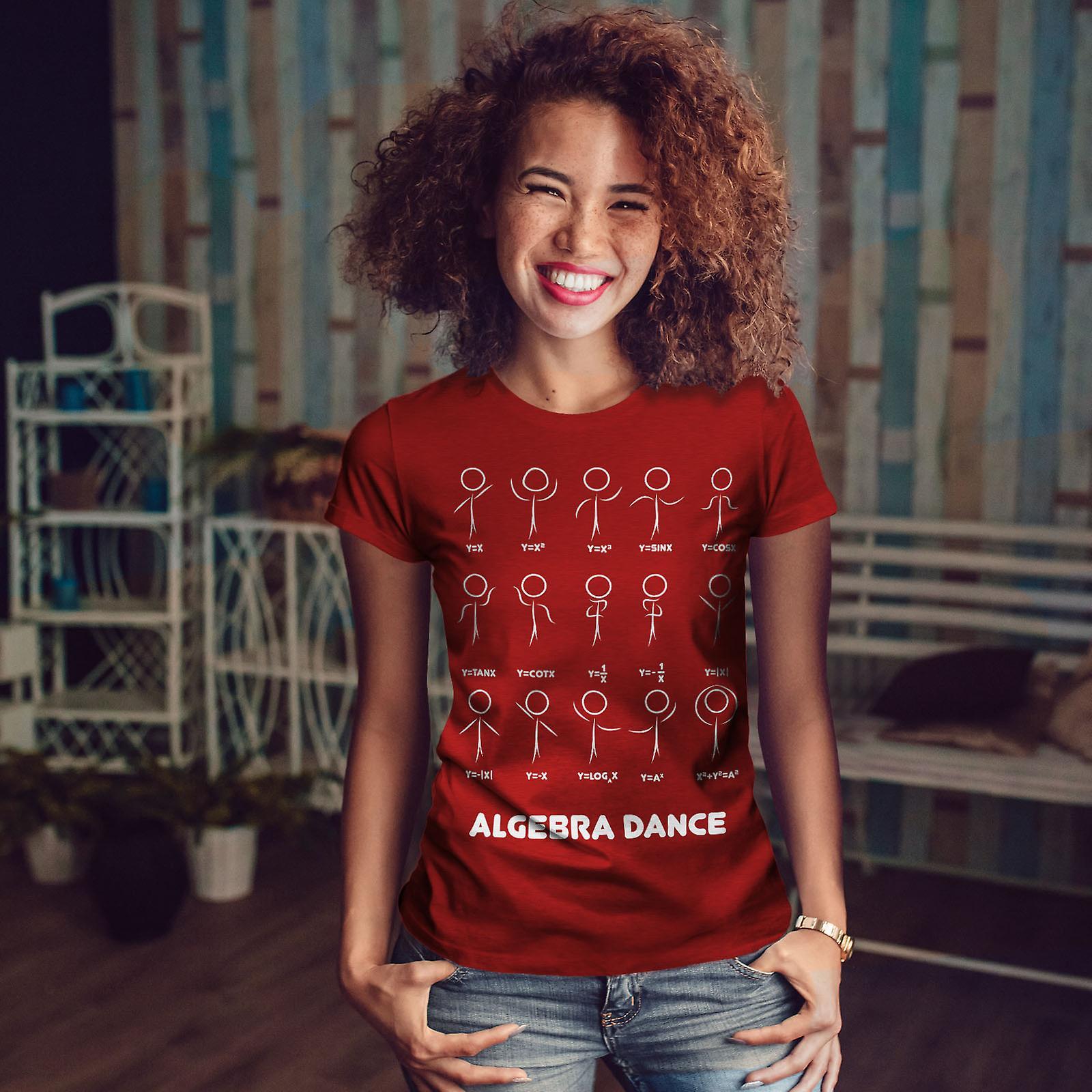 Algèbre Math danse RedT-chemise femme | Wellcoda