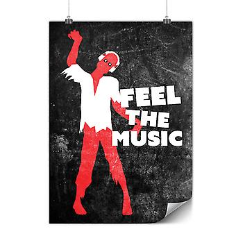 Matte or Glossy Poster with Zombie Feel Song Dj   Wellcoda   *y536