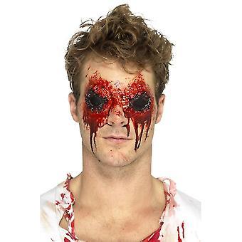 Latex Zombie ögon protetiska, köttet, med blod & lim