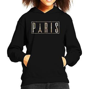 Paris Eiffelturm Logo Kid das Sweatshirt mit Kapuze