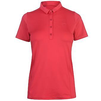 Slazenger Womens Plain Polo Shirt Ladies