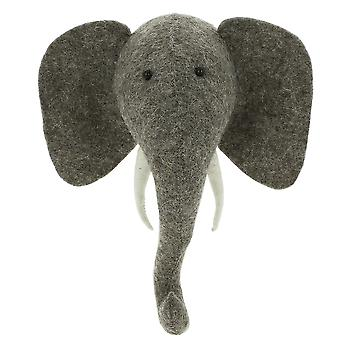 Fiona Walker England Elephant Mini Felt Animal Head, Wall Mounted