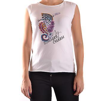 Liu Jo Ezbc086044 Women's White Cotton Top