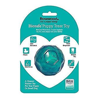 Rosewood Biosafe - Puppy Treat Dispenser Ball Blue