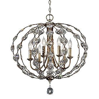 Leila šesť svetelných luster-Elstead osvetlenie