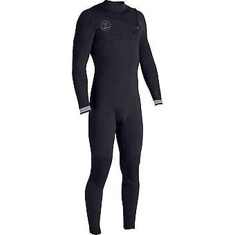 Vissla 7 seas 3-2 chest zip wetsuit black fade