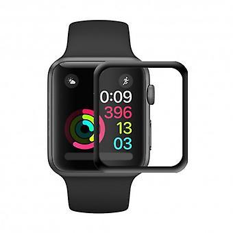 3D buet glass skjermbeskytter Apple Watch 38mm-svart