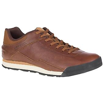 Merrell Monks Robe Mens Burnt Rocked Leather Walking Shoes