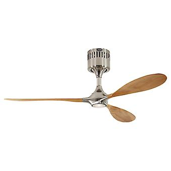 Ceiling fan Helico Paddel Chrome / Beech with remote