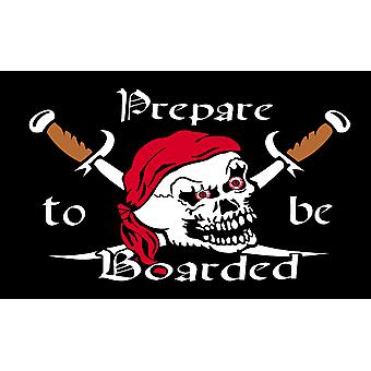 5ft x 3ft Flag - Pirate - Prepare to be boarded