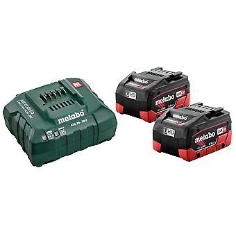 Metabo Basic-Set 2x LiHD 5.5Ah Battery Kit